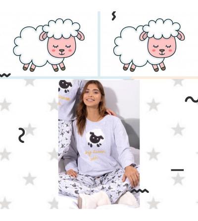 Pijama mujer invierno ovejitas