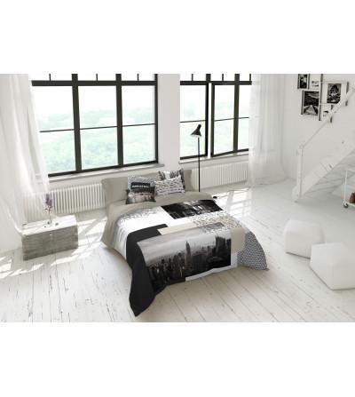 Funda nórdica de 2 piezas algodón 100% suave tacto colores neutros beiges-blanco- grises-negros