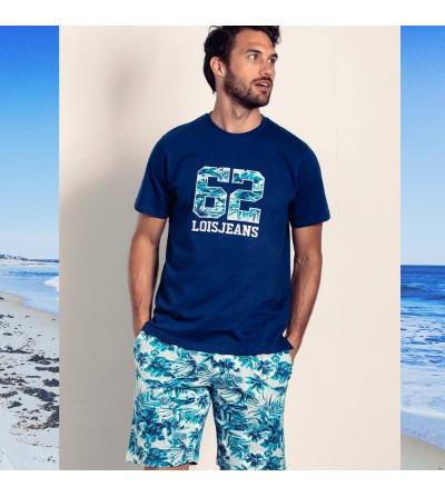 pijama verano hombre hawaino pantalon corto