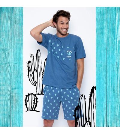 Pijama Hombre Verano Cactus